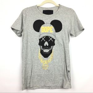 Philipp Plein Sz M Dope Skull Mickey Ears Shirt
